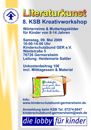 Flyer Kreativworkshop Kinderschutzbund Germersheim e.V. - hs alpha